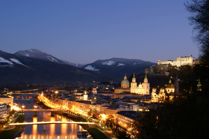 Holiday to Austria - Short Trips - Salzburg Night